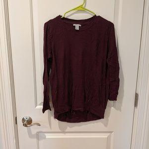 H&M maroon sweater